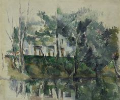 Cézanne. House on a River.1885/90. I grew up in a shotgun cottage with the Genesee river in the backyard.