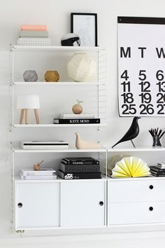 Kitchen Shelves Scandinavian String Shelf Ideas For 2019 Scandinavian Interior Design, Scandinavian Home, Estilo Interior, Interior Styling, String Regal, String Shelf, Shelving Design, Shelf Design, Scandinavian Design