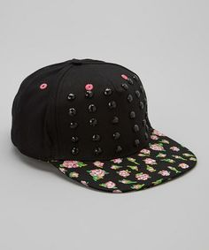 Black & Pink Love Stones Baseball Cap #zulily #zulilyfinds