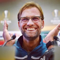 4a50418a17a Jürgen Klopp wearing Ray-Ban Clubmaster Glasses in Brushed Gunmetal