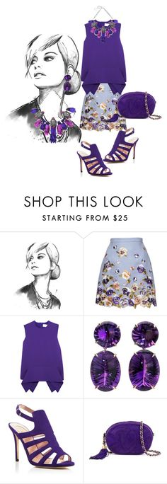 """""""Shades of purple..."""" by natozurabovna ❤ liked on Polyvore featuring Andrew Gn, Victoria, Victoria Beckham, SJP, Chanel, Forest of Chintz, victoriabeckham, andrewgn, sjp and forestofchintz"""