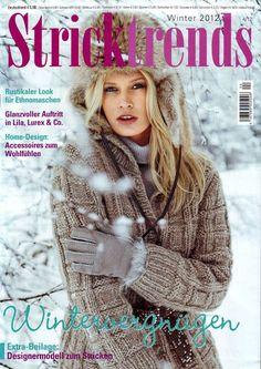 "Photo from album ""Stricktrends № 4 2012 Winter"" on Yandex. Knitting Books, Crochet Books, Lace Knitting, Knitting Stitches, Crochet Round, Knit Crochet, Crochet Hats, Knitting Magazine, Crochet Magazine"