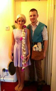 Diy Homemade Rapunzel Tangled Halloween Costume For Adults Women