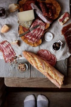 """Can't resist to a good piece of bread with some beautiful cured meat!  """"Tastiest Free BBQ recipes""""   Be my guest and come over for a visit...  http://www.facebook.com/pages/The-BBQ-KING/175439452495088"""