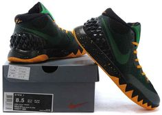 los angeles 66e81 d6adf KYRIE 1 Black Poison Green Tour Yellow Nike Kyrie, Pine, Nike Air Vapormax,