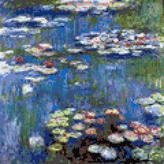 Tag: impressionism - MyPhotoStitch.com Free Cross Stitch Pattern Blog, free download