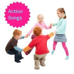 Action songs for toddlers, preschoolers, kindergarten children and ESL learners.