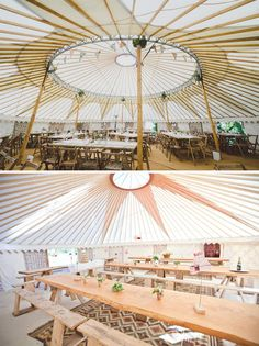 Yurt wedding venue from the inside