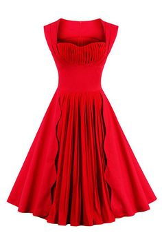 Want our Atomic 1960's Vintage Red Pleated Cocktail Dress? Get it here: https://atomicjaneclothing.com/products/atomic-1960s-vintage-red-pleated-cocktail-swing-dress