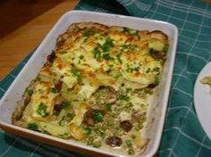 www.smulweb.nl recepten 1058232 Ovenschotel-met-doperwten-romige-champignons-en-brie