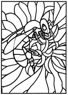 Free Coloring Page Adult Stained Glass Bee Workshop Jb