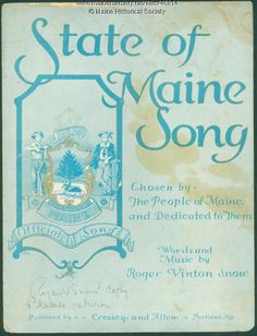 'State of Maine Song,' Portland, 1932. Item # 46814 on Maine Memory Network