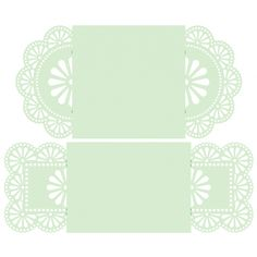 Flower Doily Envelopes