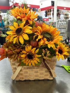 Fall centerpieces. 2016 Laura A. Tulsa Michaels(3864)