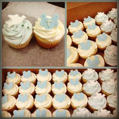 Vanilla baptism cupcakes Baby Shower Cupcakes For Boy, Christening Cupcakes, Baptism Ideas, Dream Cake, Throw A Party, Clays, Youre Invited, Boy Or Girl