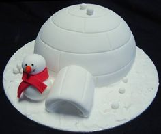 #igloo and #snowman #christmascake #letterstosanta www.fatherchristmasletters.co.uk/pinterest