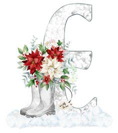 Snow Globes, Alphabet, Floral, Monograms, Plants, Decor, Letters, Decoration, Alpha Bet