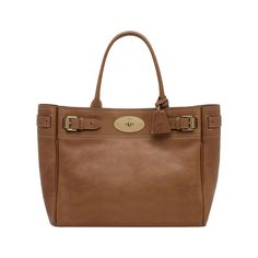 Bayswater Tote Oak Natural Leather With Brass