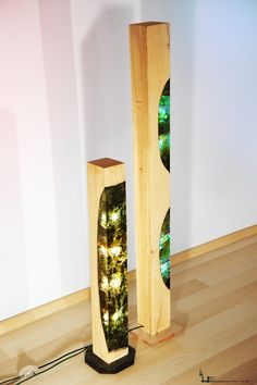 """Tenebrosa & Multicellular"" by Eduard Locota Wood, acrylic glass and light; a fusion between materials. See more @ www.inclussivis.com"