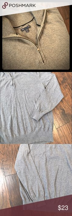 "Gap Men's ""½ Zip mockneck sweater"" size XXL Grey 1/2 Zip mockneck sweater. Very lightly used condition. Size XXL GAP Sweaters"