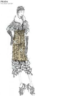 Look at these gems I found on the Prada website. They are sketches of the costumes designed for Baz Luhrmann's new film The Great Gatsby. The Great Gatsby 2013, Great Gatsby Fashion, Great Gatsby Party, Gatsby Theme, Gatsby Style, Daisy Gatsby, 1920s Party, Gatsby Wedding, Fashion Gallery