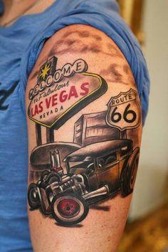 Resultado de imagem para hot rod tattoo