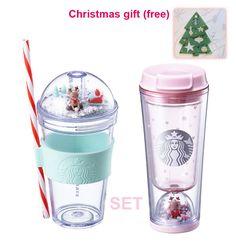 Starbucks KOREA 2017 Christmas Rudolph figure tumbler + waterball tumbler 355ml #Starbucks