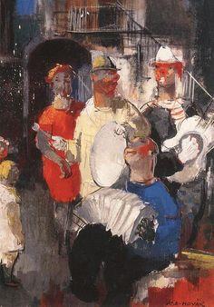 Musicians by Vilmos Aba-Novák
