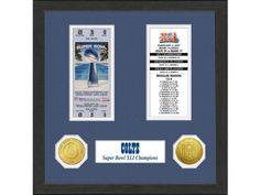 Tampa Bay Buccaneers Super Bowl XXXVII Ticket and Game Coin Acrylic Display