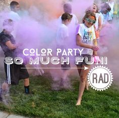 Fun color party idea- perfect for teenagers and really inexpensive!