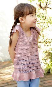 Ravelry: 214s-21 Ruffled Camisole pattern by Pierrot (Gosyo Co., Ltd)