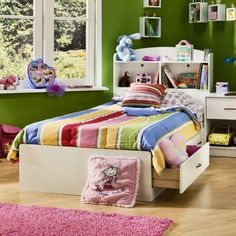 Kids bed and bookcase