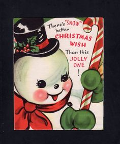 Cute Snowman Christmas Card ~ (DE 36)