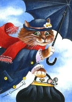 ACEO Mary Poppins Irina Garmashova