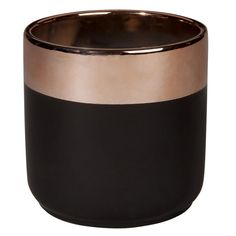 Grey and Copper Ceramic Planter H 13 ...