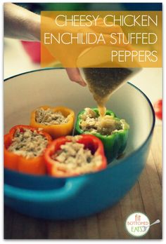 This Cheesy Chicken Enchilada Stuffed Peppers recipe from Diets In Review is packed with nutrients AND flavor.