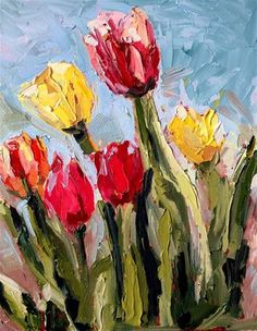 """Tulips"" - Original Fine Art for Sale - © Kristen Dukat"