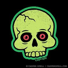 Casper Spell — casperspell's shop on Spoonflower: fabric,. Halloween Art, Holidays Halloween, Halloween Themes, Vintage Halloween, Halloween Night, Halloween Stuff, Spooky Scary, Creepy Cute, Skull Logo