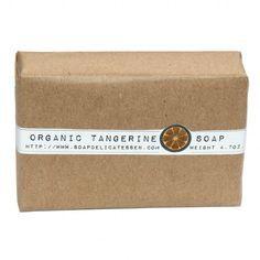 Handmade Organic Tangerine Glycerin Soap from Rebecca's Soap Delicatessen at http://shop.soapdelicatessen.com