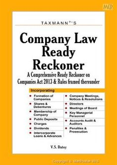 Buy online Company Law Ready Reckoner @ Meripustak.com