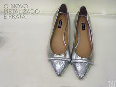Sapatilhas fofas! Prata é o novo metalizado, tendências para o Verão 2014. | Silver is the new gold! Lovely flats!
