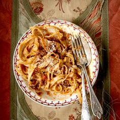 The ragù made by Italian cook Anna Nanni is brightly flavored and slightly tangy, owing to the addition of canned tomatoes.