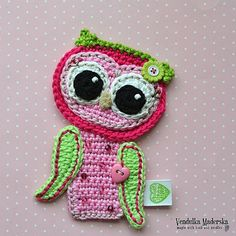 Crochet Baby owl applique pattern DIY von VendulkaM auf Etsy