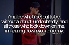 Eminem. Sometimes he's just got it.