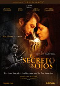 """El secreto de sus ojos"" - a Argentine crime thriller film directed, produced and edited by Juan José Campanella and written by Eduardo Sacheri and Campanella. Based on Sacheri's novel ""La pregunta de sus ojos"". Top Movies, Great Movies, Movies And Tv Shows, Eye Movie, Movie Tv, Tv Series Online, Movies Online, Peliculas Audio Latino Online, Ricardo Darin"