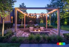 Outdoor / Gardening:Create Outdoor Lounge With Sunken Seating Area Ideas Build Conversation Pits Sunken Sitting Areas In Pool Garden Outside Decor Design String Lighting Adds To The Beauty Of The Sunken Lounge Elevate The Style Quotient Of Your Outdoor Lounge With Sunken Seating Area