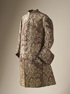 Gentleman's Frock Coat, 1745-1750, France, silk plain weave. LACMA Collections Online