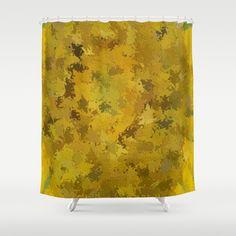 """""""Embossed Yellow Sunflower 0043"""" - Series 2 Shower Curtain by Celeste - $68.00  #homedecor #bathroom"""