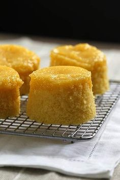 Steamed lemon curd pudding.