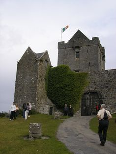 Dunguaire Castle is a 16th-century tower house on the southeastern shore of Galway Bay in County Galway, Ireland, near Kinvarra (also spelled Kinvara). The name derives from the Dun of King Guaire, the legendary king of Connacht. The castle's 75-foot tower and its defensive wall have been restored.